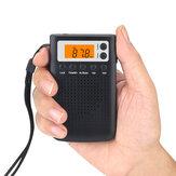 EU / US / JP Type Mini Radio haut-parleur transparent intégré Radio stéréo portable FM / AM auditive pour les personnes âgées Batterie alimenté
