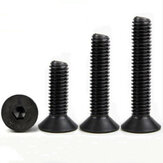 Suleve™ M5CH9 50Pcs M5 Hex Socket Countersunk Flat Head Screw Carbon Steel 10.9 Grade 6/8/10/12/14/16/18/20/25/30/35/40mm Optional