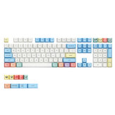 MechZone 117 Keys Chalk Keycap Set OEM Profile PBT Sublimation Keycaps voor 61/64/87/104/108 Keys Mechanische toetsenborden
