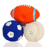 Yani DCT-3 Jouets pour chien Squishy Soft Bouncing Latex Ball Fetch Throw Balls Sound Training Dents Jouet