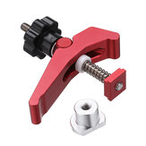 HONGDUI Red Quick Acting Hold Down Clamp Aluminum Alloy T-Slot T-Track Clamp Set Woodworking Tool for Woodworking Table