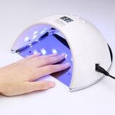 48W SUN6 LED UV neglelampe lys gel polsk kur kur negletørrer UV lampe EU / US stik