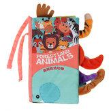 Livro de brinquedos de animais infantis rabo Soft Livro de brinquedos quebra-cabeça Coth Livro de brinquedos para crianças presente de bebê Brinquedos de educação infantil