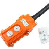 Crane Pendant Control Hoist Push Button Switch Station Up-Down Rainproof Button