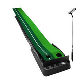 3m Golf Putting Mat Golf Practice Golf Putter Return Trainer With Blocking Plate 3xGolf Ball