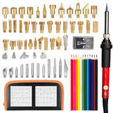 71Pcs Adjustable Temperature Electric Solder Iron Tool Kit Pyrography Wood Burning Carving Embossing Tool