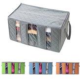 60x35x35cm Vliesstoffe Kleider Quilt Aufbewahrungsbeutel Staub Proof Feuchtigkeitsfeste Organizer Tasche mit Reißverschluss