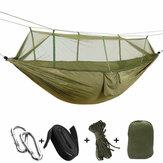 Beacon Pet Double Camping Hammock com Mosquito Net Portátil Nylon Barraca Pendurada Cama ao Ar Livre