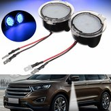 2pcs 18LED Side Mirror Puddle Lamp Car Decoration Lights for Ford Edge Mondeo Taubus 2015
