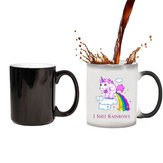 Multi Color Unicorn Heat Changing Temperature Mug Ceramic Coffee Tea Cup Gift