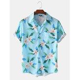 Camisas de manga corta transpirables con estampado de licencia de moda para hombre