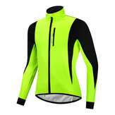 WOSAWE Winter Warm Up Thermal Fleece Men's Cycling Jacket Waterproof Bicycle MTB Road Windproof Bike Clothing
