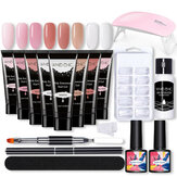 Nail Gel Kit Builder Prolunga rapida UV Smalto per unghie Top Coat Strumenti Set