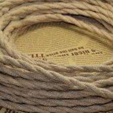 5M Vintage Strang Draht Gebogenes Kabel Retro Geflochtene für DIY hängende Lampe