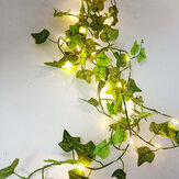 LED Leaves Leaf Battery String Fairy Lights For Home Party Garden Decor Garland