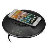 Portable USB Charging bluetooth Speaker Wireless Charger Stereo Subwoofer Digital Alarm Clock Built-in FM Radio Mic