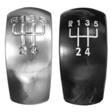Chrome Black 5 Speed ​​Gear Shift Knob Cap Skal För Skoda Octavia MK2