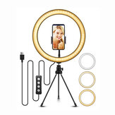 ELEGIANT 10.2 inch Selfie LED Ring Light with Tripod Stand for YouTube Video Live Stream Makeup Photography