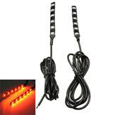 2pcs ambre universelle 6 LED moto bande clignotant indicateur clignotant de la lumière
