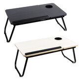 Foldable Laptop Bed Tray Table With Tablet Slots & Cup Holder for Bed/Couch/Sofa