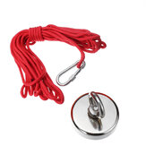 25mm-120mm 35-600Kg Neodymium Fishing Magnet Salvage Recovery Magnet with 10M Rope for Detecting Metal Treasure