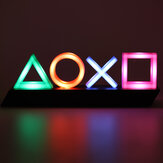 Voice Control Game Icon LED Night Light Acrylic Atmosphere Neon Dimmable Bar Lamp Decor