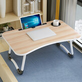 Folding Laptop Table with Slot Hole Notebook Table College Student Dormitory for Bedside Sofa Study Desk