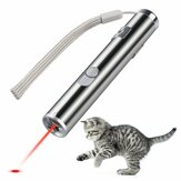 Loskii PT-31  USB Rechargeable Pet Toys Cat Training Toy Laser Pointer With LED Flashlight