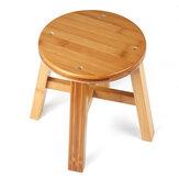 Banqueta circular de madeira maciça, sofá pequeno Chá mesa, cadeira, sapato, banco para crianças, sala de estar