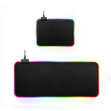 USB Wired Large Colorful Backlit Non-slip Soft Rubber Mouse Pad Desktop Mat