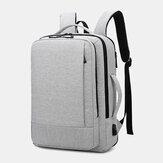 Mannen Oxford USB opladen zak met meerdere zakken voor zakelijke laptoptas