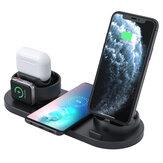 Bakeey 4-in-1 draadloze oplader 10W snel draadloos oplaadpad Oordopjesoplader Telefoonoplader Horlogeoplader voor iPhone 12 12 Mini 12 Pro Max voor Samsung Galaxy Note 20 Xiaomi Mi10