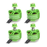 4X Racerstar 2207 BR2207S Green Edition 1600KV 3-6S Brushless Motor For RC Drone FPV Racing Frame