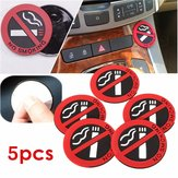 5st Rubber Adhesive Sticker Auto Office Notice Waarschuwing Logo NO SMOKING Sign