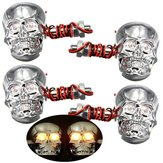 4 pcs 12 V 0.5 W Skeleton Turn Signal Light Motorcycle Skull Kepala Lampu Indikator