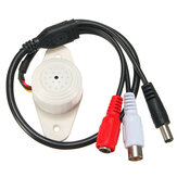 Professional Sound Waterproof Microphone Mic Connector for Security CCTV Camera System