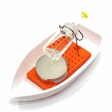 Amazing Heat Steam Candle Powered Speedboat Scientific Experimental Toys For Kids Children