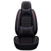 Komplettset Universeller Autositzbezug Protector PU Leder Vorder- und Rücksitzkissen