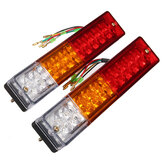 Pair 12V Truck Trailer Caravan LED Brake Rear Tail Reverse Light Turn Indiactor