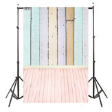 5x10FT Vinyl Colorful Background Foto Sfondi di legno Wood Floor Studio Backdrop