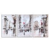 3 pièces ville route toile impression peintures mur décoratif impression Art photos sans cadre tenture murale décorations pour bureau à domicile