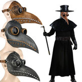 Halloween Medievale Steampunk Plague Doctor Bird Maschera Latex Punk Cosplay Mascheras Long Nose Beak Adult Halloween Event Cosplay Puntelli