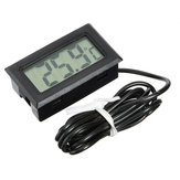 5Pcs Mini LCD Digital Thermometer For Aquarium Fish Tank Refrigerator Temperature Measurement 79cm Probe -50°C to 110°C