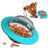 UFO Shape Interactive Dog Cat Food Ball Bowl Pet Toy Shaking Foods Leak Container for Puppy Feeding Tool