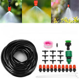 10M Tubing Auto/Manual Watering Drip Irrigation System Spraying Garden Hose Tools Kit