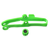 Green Chain Slider With Lower Roller For Kawasaki KX250F 06-16 KX450F 06-15