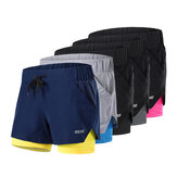 ARSUXEO Short de sport 2 en 1 pour homme à séchage rapide respirant Soft Fitness Gym Yoga Pantalon court de cyclisme