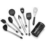 9Pcs/Set Stainless Steel Kitchen Utensils Cooking Non-Stick Baking Tool Silicone Set Kitchen Storage Container