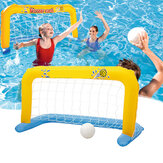 Inflatable Pool Goal Floating Pool Games Swimming Water Sport with 2 Balls
