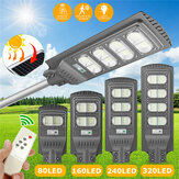 80/160/240 / 320LED's Solar Street Light Motion Radar Sensor Outdoor Yard Wandlamp Road Floodlight + Afstandsbediening